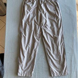 Nike Lined Gray Warmup Windbreaker zipper Leg Pant